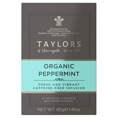 Taylors of Harrogate Organic Peppermint Tea (Bio borsmenta tea) 20 db borítékolt filter