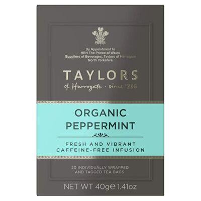 Taylors of Harrogate Organic Peppermint Tea (Bio borsmenta tea) 20 db borítékolt filter