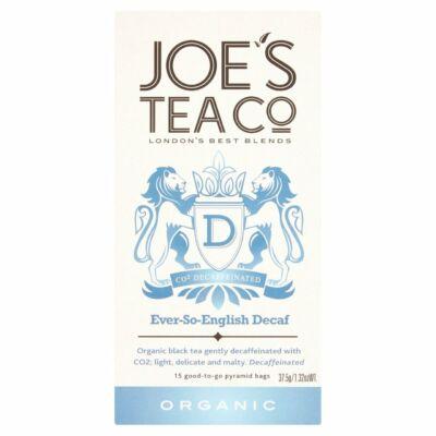 Joe's Tea Co -  Ever-So-English Decaf tea bags 15 db piramis filter