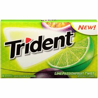 Trident Lime Passion Fruit rágógumi 14db