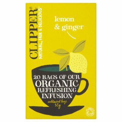 Clipper Organic Lemon & Ginger Tea 20 db filter