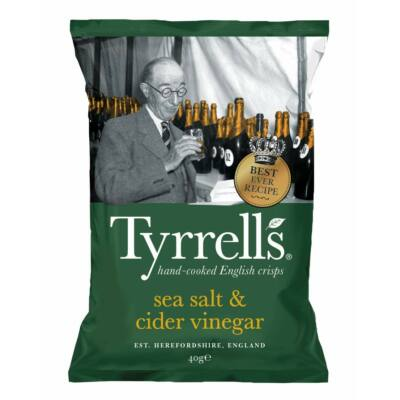 Tyrrell's Sea Salt & Cider Vinegar Crisps 150g