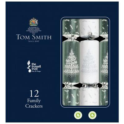 "Tom Smith Silver & White Christmas Crackers 12 db 12"" méretű cracker"