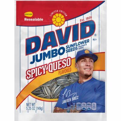 David Spicy Queso Jumbo Sunflower Seeds [USA]  149g