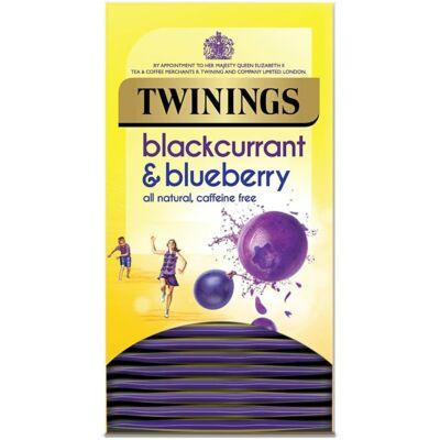 Twinings Blackcurrant & Blueberry (Feketeribizli és kékáfonya) Tea 20 db borítékolt filter