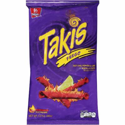 Takis Tortilla Chips Fuego - Hot Chili Pepper and Lime [USA] 280g