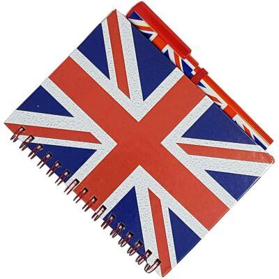 Union Jack Notebook and Matching Pen (jegyzetfüzet és toll)