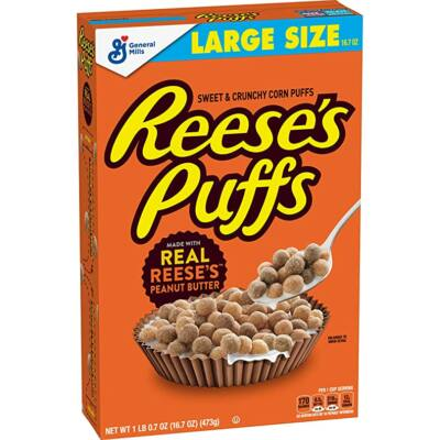 Reese's Puffs Cereal, Peanut Butter [USA] 473g