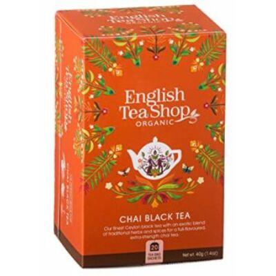 English Tea Shop - Bio Fekete Chai tea 20 db filter