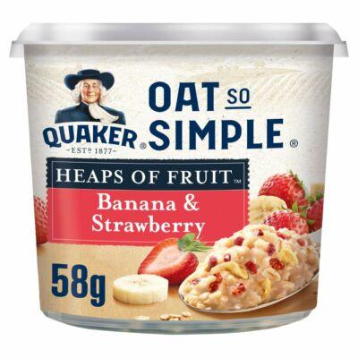 Quaker Oat So Simple Banana Strawberry Porridge Pot 58g