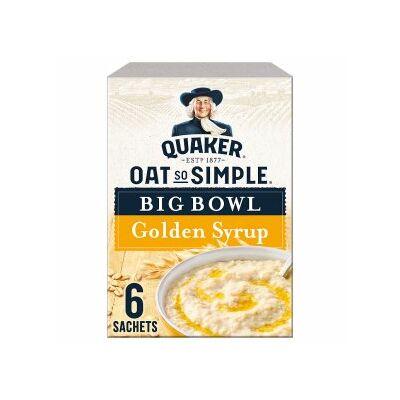 Quaker Oat So Simple Big Bowl Golden Syrup - 6 db nagy instant tasak 297g