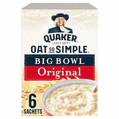 Quaker Oat So Simple Big Bowl Original - 6db nagy instant tasak 231g