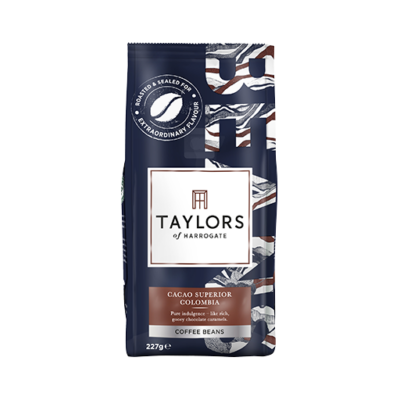 Taylors of Harrogate Cacao Superior Colombia Coffee Beans (szemes kávé) 227g
