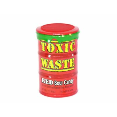 Toxic Waste Red Sour Candy 42g Drum
