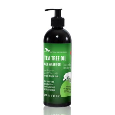 Ausztrál Teafa olaj mosakodó gél, természetes antiszeptikus hatóanyaggal 250ml