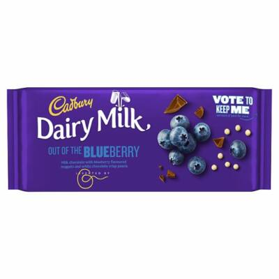 Cadbury Dairy Milk Inventor Blueberry Chocolate Bar 105g