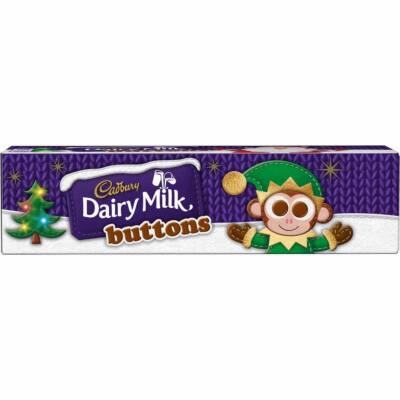 Cadbury Dairy Milk Buttons Christmas Chocolate Tube 72g