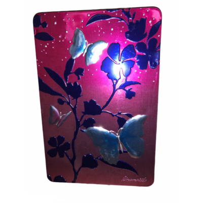Churchills Pink Tin with Blue Butterflies (Fémdobozos belga csokis keksz) 300g