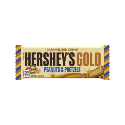 Hershey's Gold Peanuts and Pretzels Candy Bar [USA] 39g