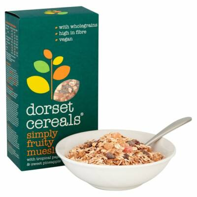 Dorset Cereals Simply Fruity Muesli (Egyszerûen Gyümölcsös Müzli) 410g