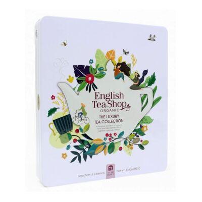 English Tea Shop Bio Luxury teaválogatás fémdobozban 72 filter