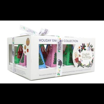 English Tea Shop - Holiday English Collection - Fehér British Toys Karácsonyi selyempiramis teaválogatás 12 db filter