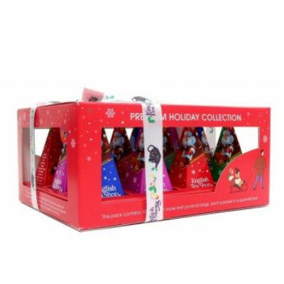 English Tea Shop - Premium Holiday Collection - Piros Karácsonyi selyempiramis teaválogatás 12 db filter