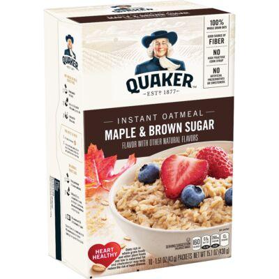 Quaker Instant Oatmeal Maple & Brown Sugar 10 instant tasak [USA]  430g