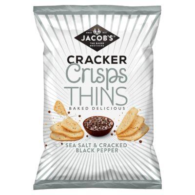 Jacob's Cracker Crisps Thins Sea Salt & Cracked Black Pepper 130g