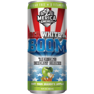 'Merica Energy Drink - Not Your Granny's Apple [USA] 480ml