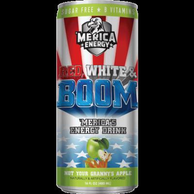 'Merica Energy Drink - Not Your Granny's Apple [USA] 480ml