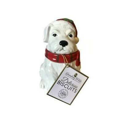 Grandma Wild's Scottie Dog Jar Biscuit (Skót terrier kerámia tároló csokoládés keksszel) 150g