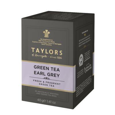 Taylors of Harrogate Green Tea Earl Grey (Zöld Earl Grey Teal) 20 db borítékolt filter