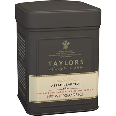 Taylors of Harrogate Single Estate Assam Tea- Loose Tea Tin Caddy 100g
