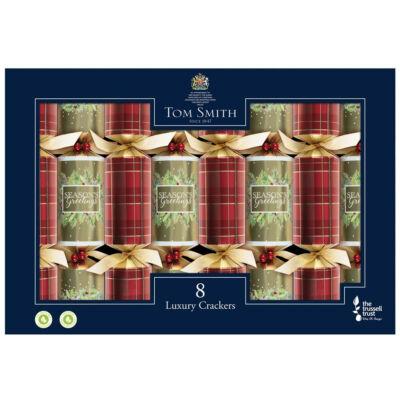 "Tom Smith Luxury Traditional Foliage Christmas Crackers 8 db 12.5"" méretű cracker"