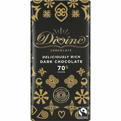 Divine 70% Dark Chocolate - étcsokoládé 90g