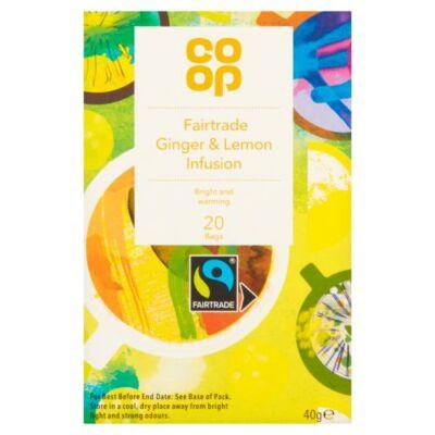 Co Op Lemon & Ginger Teabags 20 db filter