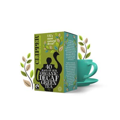 Clipper Organic & Fairtrade Decaf Green Tea (koffeinmentes zöld tea) 40 db filter