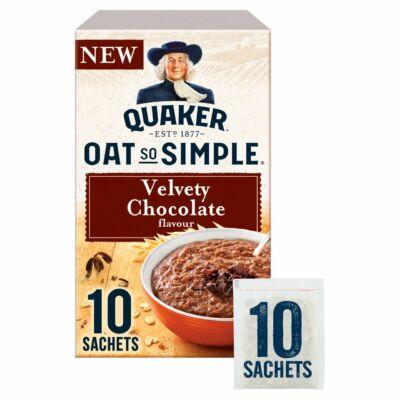 Quaker Oat So Simple Velvety Chocolate Sachets 10 db instant tasak