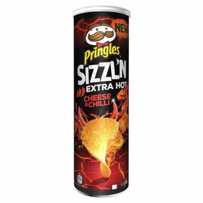 Pringles Sizzl'N Extra Hot Cheese & Chilli Crisps 180g