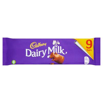 Cadbury Dairy Milk Chocolate Bars 9 Pack 263.7g