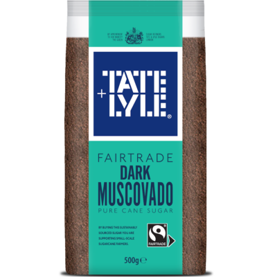 Tate & Lyle Fairtrade Dark Muscovado Sugar 500g