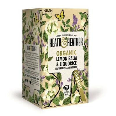 Heath & Heather Organic Lemon Balm & Liquorice (Citromfű és édesgyökér) Tea 20 db filter