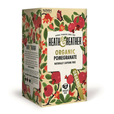 Heath & Heather Organic Pomegranate Tea - Bio Gránátalma Tea  20 db filter