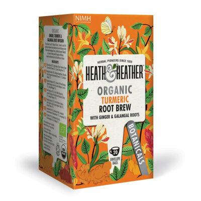 Heath & Heather Organic Turmeric Root Brew (Kurkuma és más gyökér) Tea 20 db filter