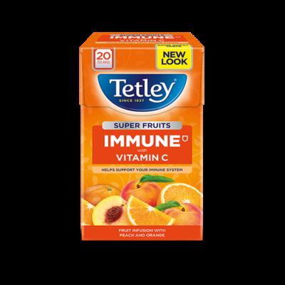 Tetley Super Fruit Vitamin C Peach and Orange Tea (Őszibarack és narancs) 20 db filter