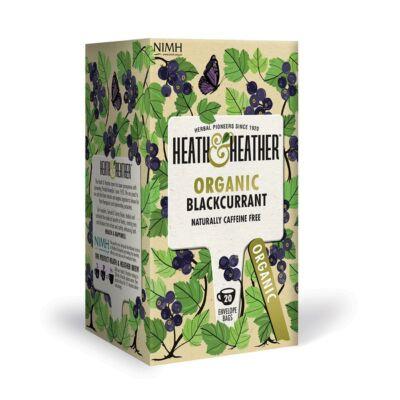 Heath & Heather Organic Blackcurrant Tea - Bio Feketeribizli Tea  20 db filter
