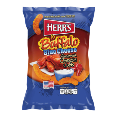Herr's Buffalo Blue Cheese Flavour Puffs [USA]  199g
