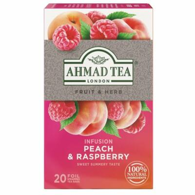 Ahmad Tea  - Peach & Raspberry (Őszibarack és málna) Tea- 20 db filter