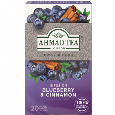 Ahmad Tea  - Blueberry & Cinnamon (Kékáfonya és fahéj) Tea- 20 db filter